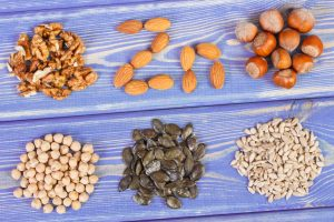 Products and ingredients containing zinc and dietary fiber, healthy nutrition