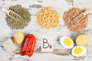 Products containing vitamin B6, natural minerals and dietary fiber